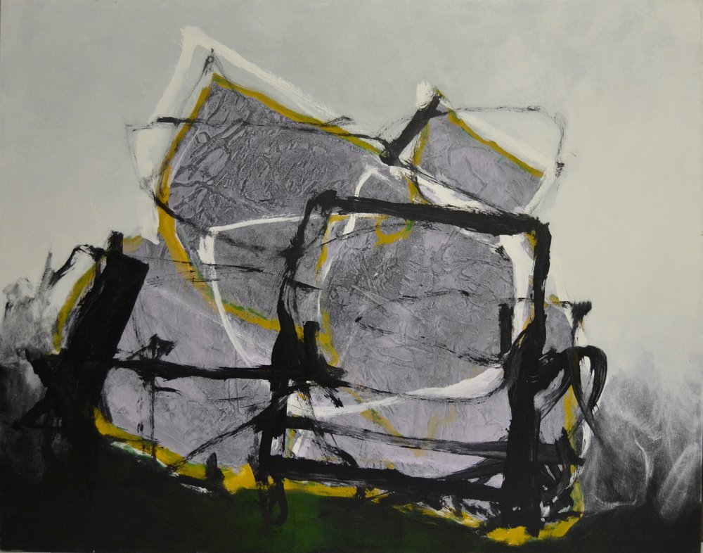 Cause,  1979  Acrylic on canvas 50 x 70 inches