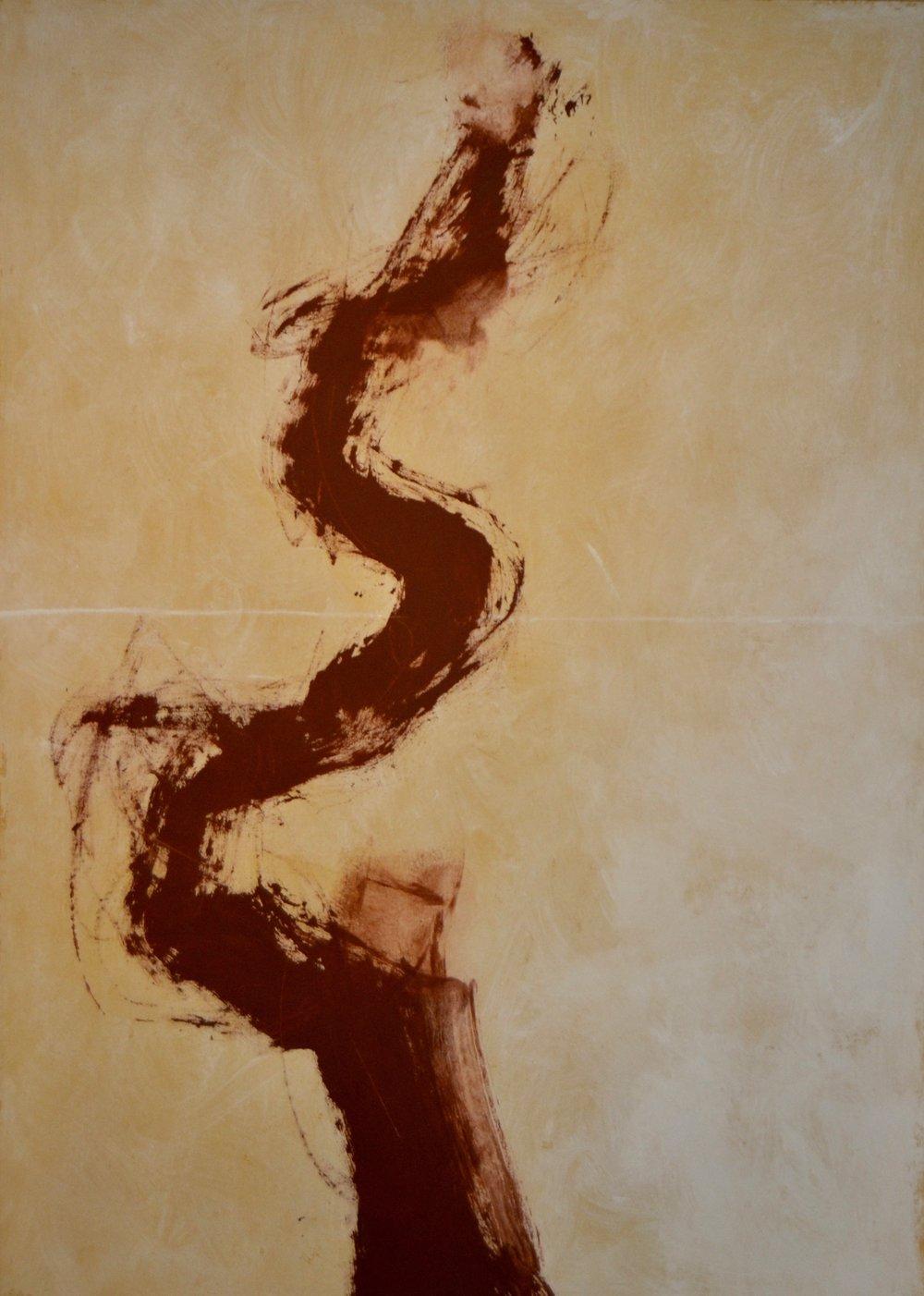 Scion, 1990 Acrylic on canvas 70 x 50 inches