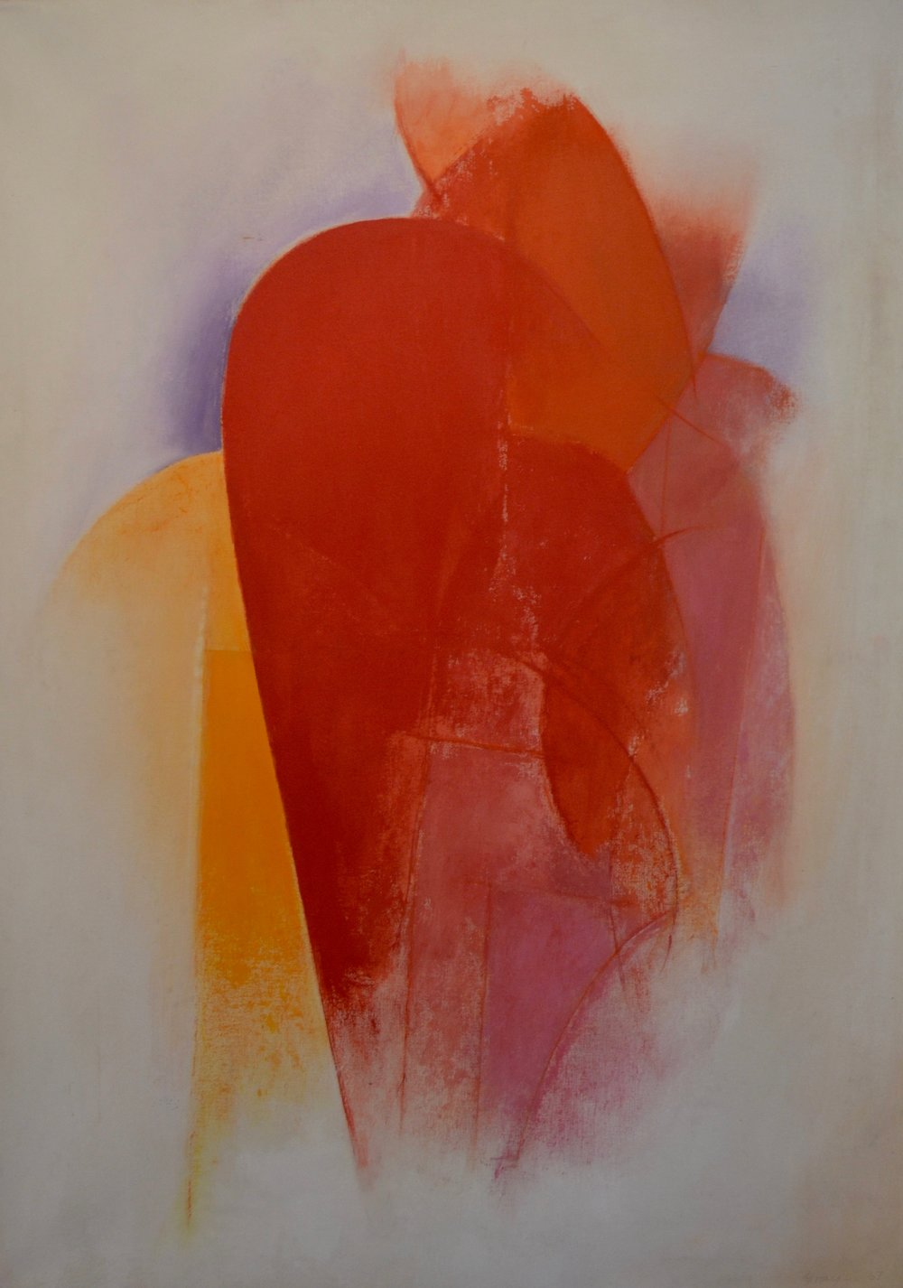 Standing Woman, 1967 Liquitex on canvas 69 x 48 inches