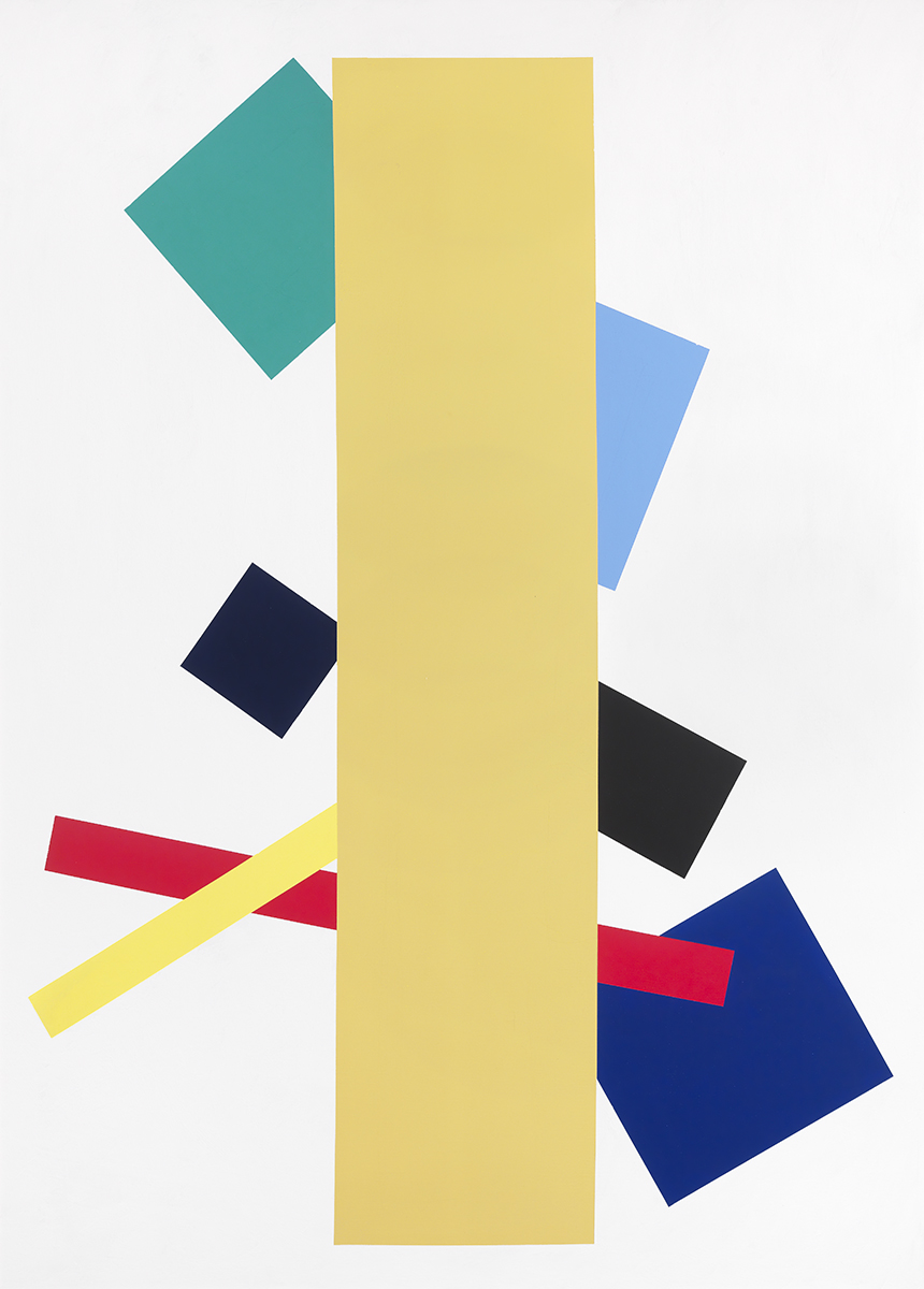 Ochre Vertical , 1975 Acrylic on canvas 69.5 x 50 inches