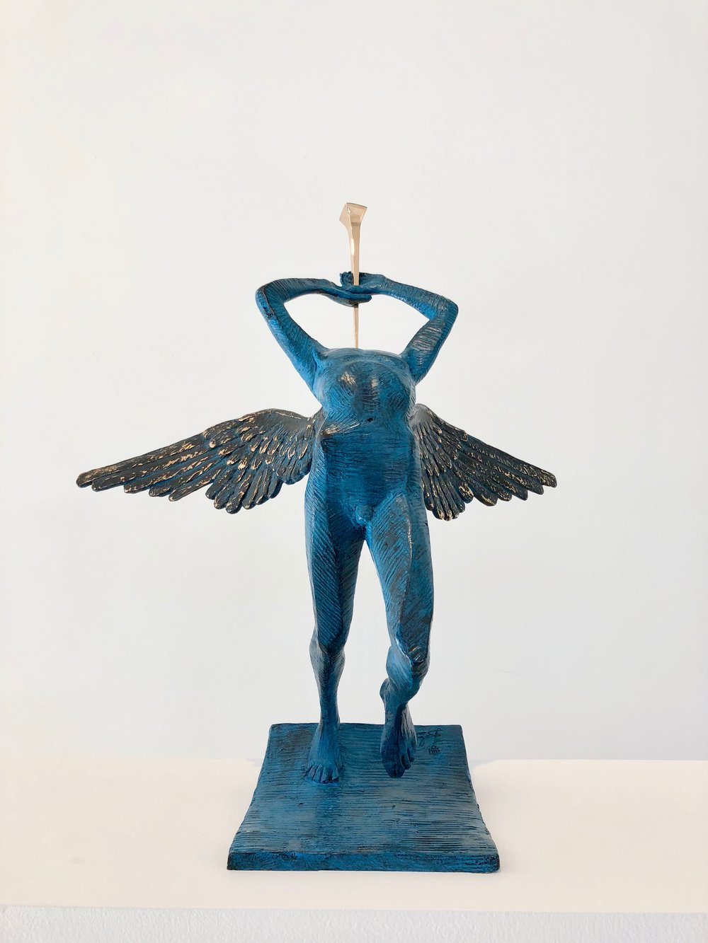 Triumphant Angel , 1976-1984 Bronze 19 87/127h x 6 63/127w x 7 11/127d inches