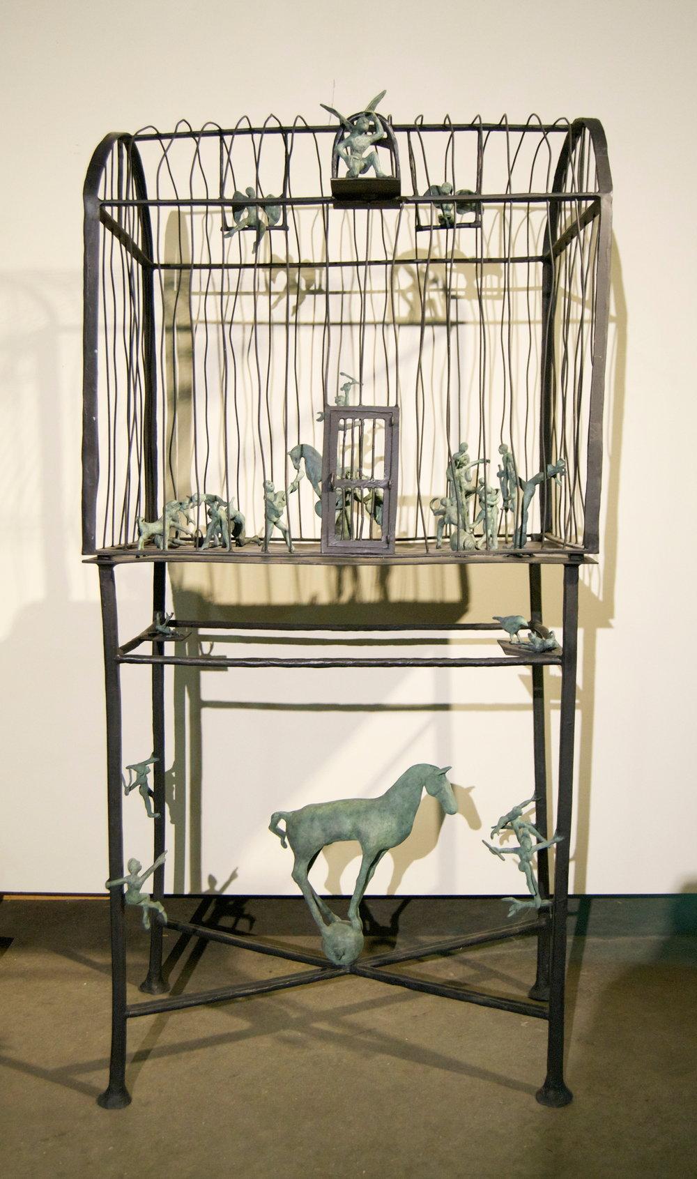 O Caçador de Sonhos #5   Bronze, unique 55 x 30 x 18 inches