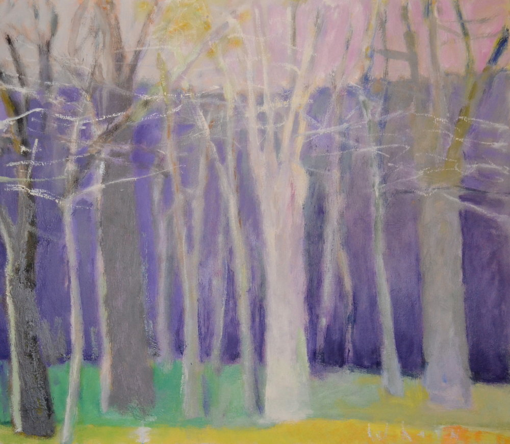 Silvery Trees , 2003  Oil on linen  26 x 30 inches