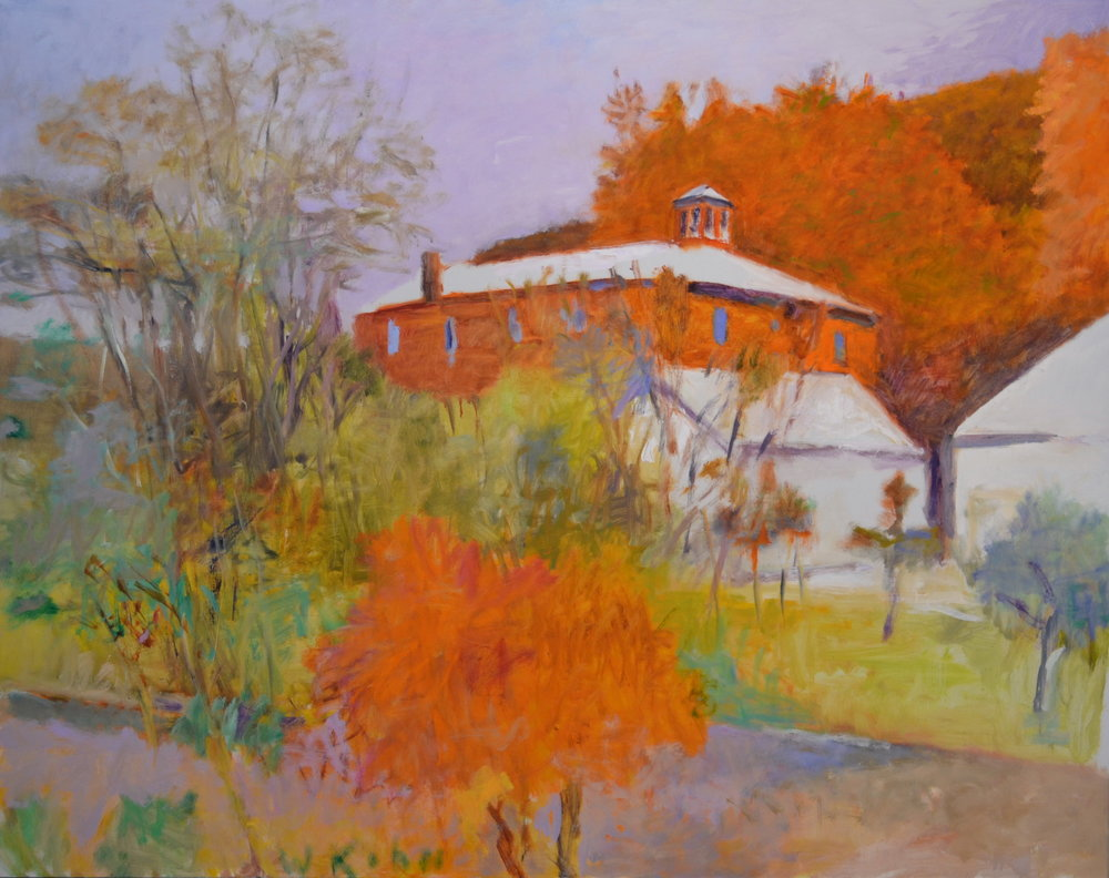 In the Back of the Vermont Studio Center , 2001  Oil on canvas  52 x 66 inches