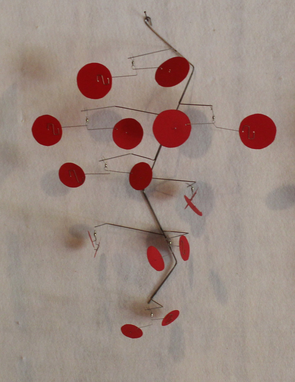 Red Dots  Painted aluminum and stainless steel 17 x 14 x 8.5 inches