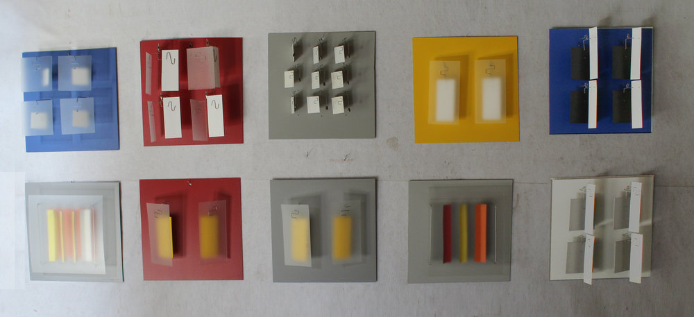 Color Studies  Lexan, PVC and aluminum 18 x 18 x 4-7 inches