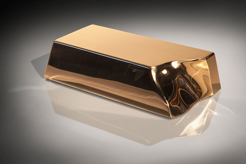 Ingot II , 2013 Fabricated Silicon Bronze 4 3/4h x 13 3/4w x 7 1/4d inches