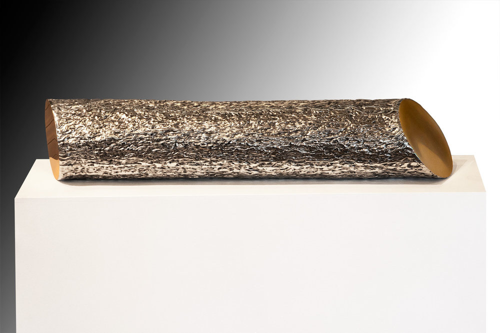 Slice II , 2013 High Chromium Stainless Steel / Silicon Bronze 7h x 35w x 7d inches