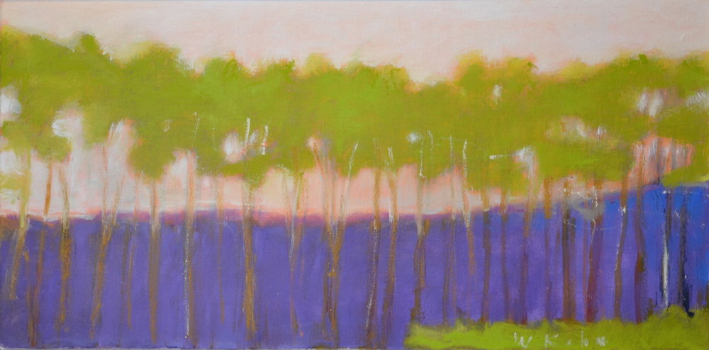 Green Trees , 2011  Oil on canvas 16 x 32 inches
