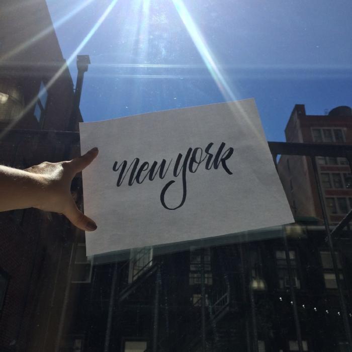 new york hand lettering flatiron
