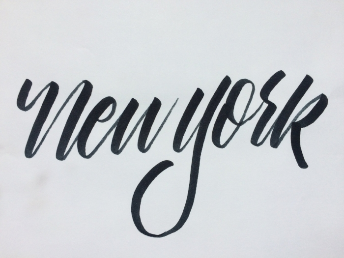 new york hand lettering process