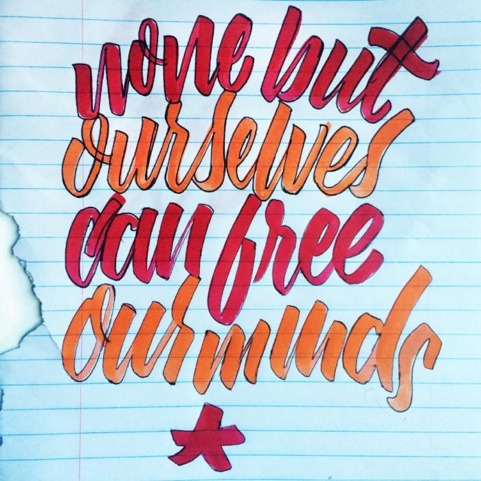 hand lettering calligraphy brush letter