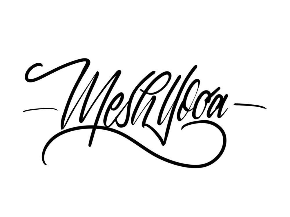 meshyoga lettering