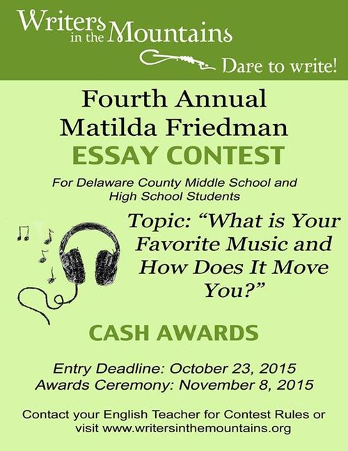 Matilda Friedman Essay Contest For Students In Delaware County   Matilda Friedman Essay Contest For Students In Delaware County