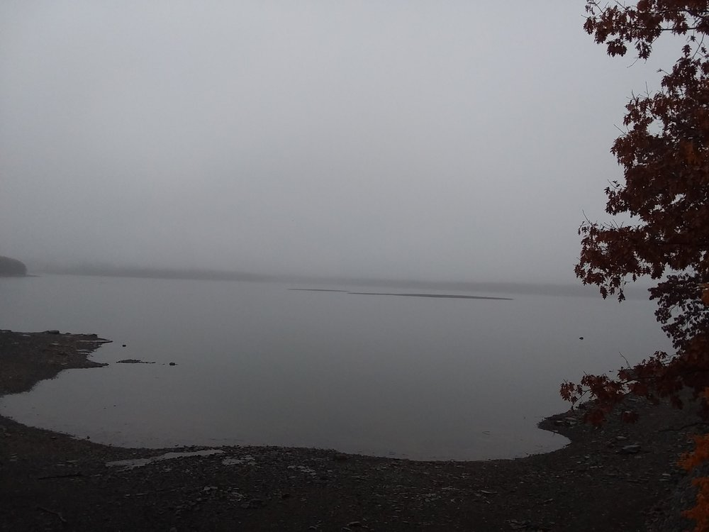 Where did the Catskill Mountain range go? Spooky fog along the Ashokan Reservoir this past week.
