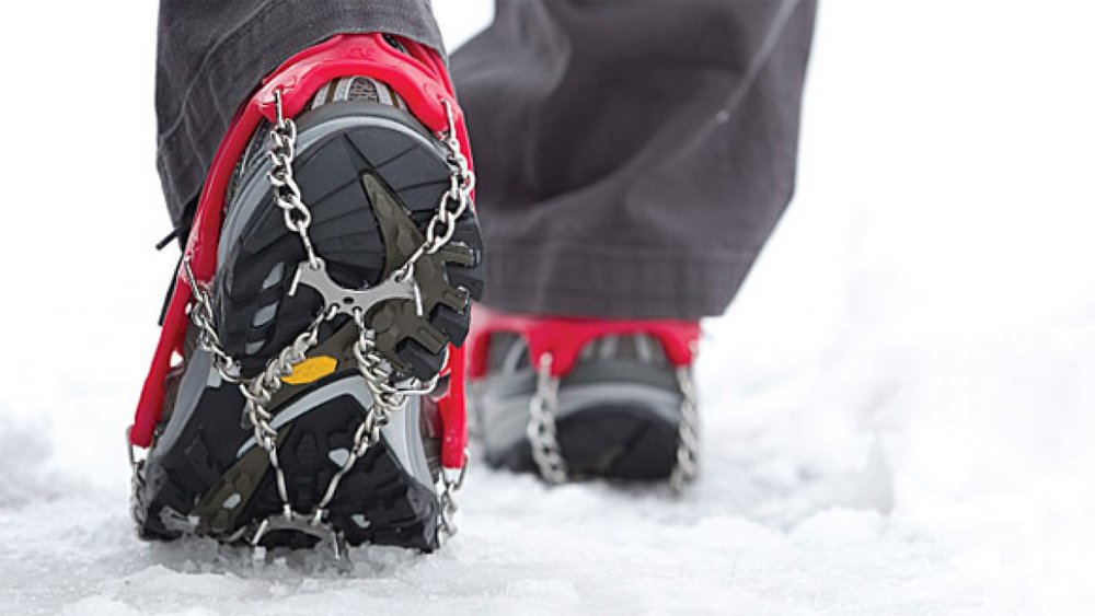 A pair of Microspikes can greatly improve winter traction.