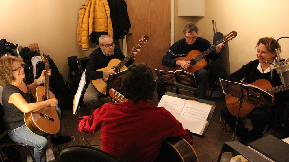 Guitar Lessons in groups of 4 persons