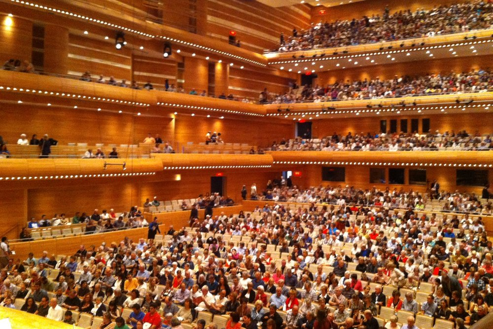 20 minutes before the concert, Maison Symphonique was already full