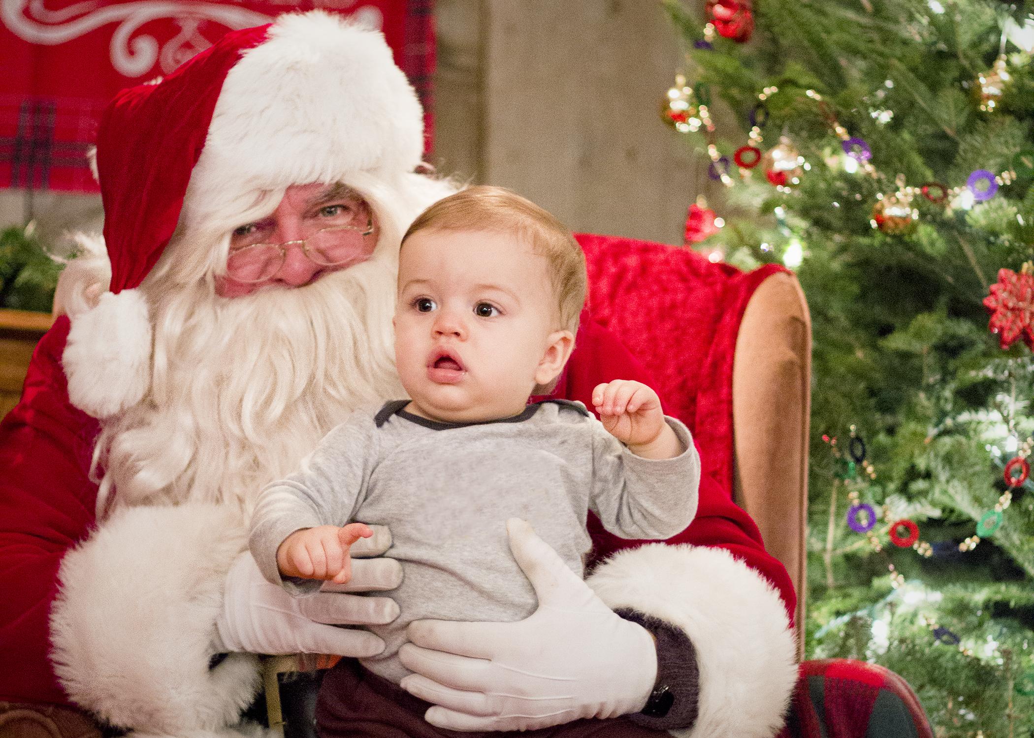 Brayden and Santa