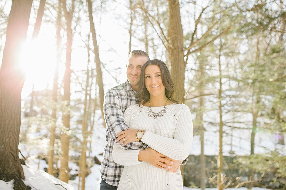 Adrienne and Mike - Connecticut Winter Engagement