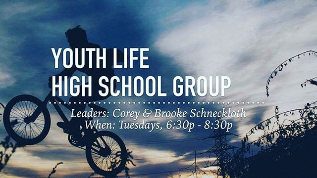 Our high school cell group will be meeting tonight in the Legacy Room at 6:30 pm! All students grades 8–12 are welcome to join us!