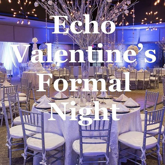 Tonight!! Dress formal and get ready for a fun Valentines banquet! 7 pm, bring your friends!!