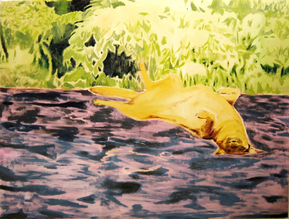 Molly On Her Back, 160x210, oil on canvas, 2013