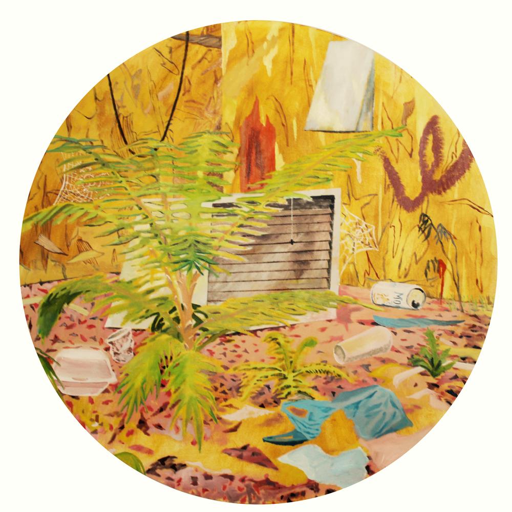 Hodgepodge, 140 cm diameter, oil on canvas, 2016