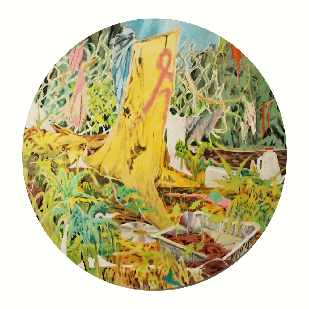 Memory Disc, 140 cm diameter, oil on canvas, 2016