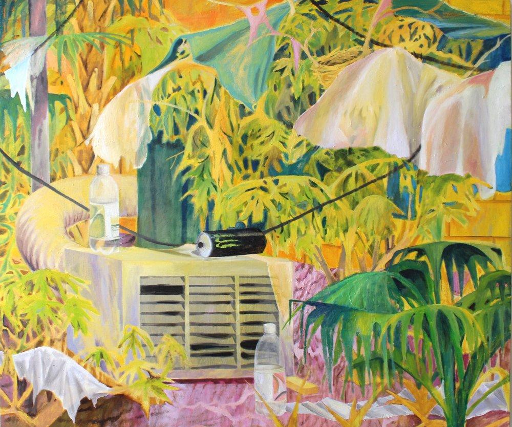 The florida room, oil on canvas, 160x140 cm, 2015