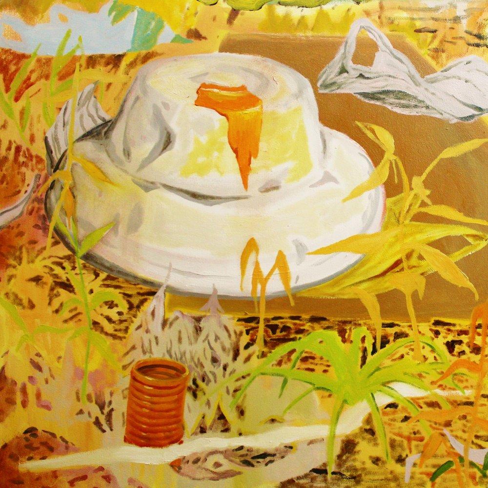 Pilgrim, 89x89cm, oil on canvas, 2016