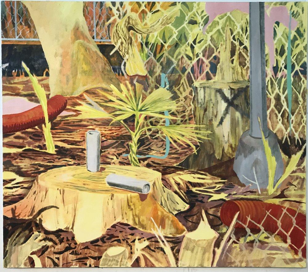 Palmetto State, oil on canvas, 160x140cm, 2017