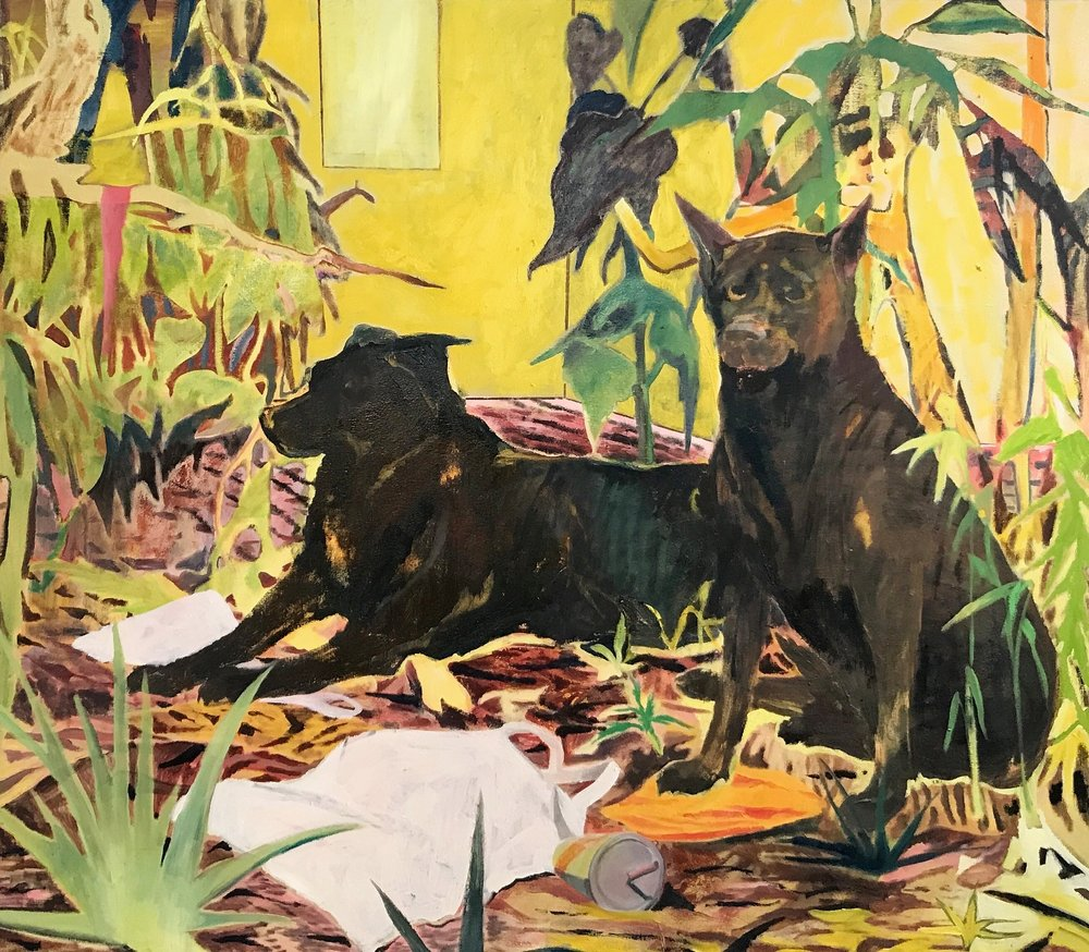 The Sugardogs, oil on canvas, 160x140cm,  2017