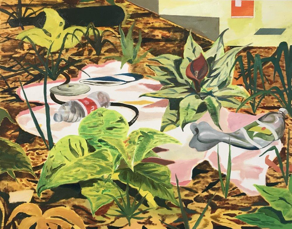 Skunkblossom, oil on canvas, 100x120 cm, 2018