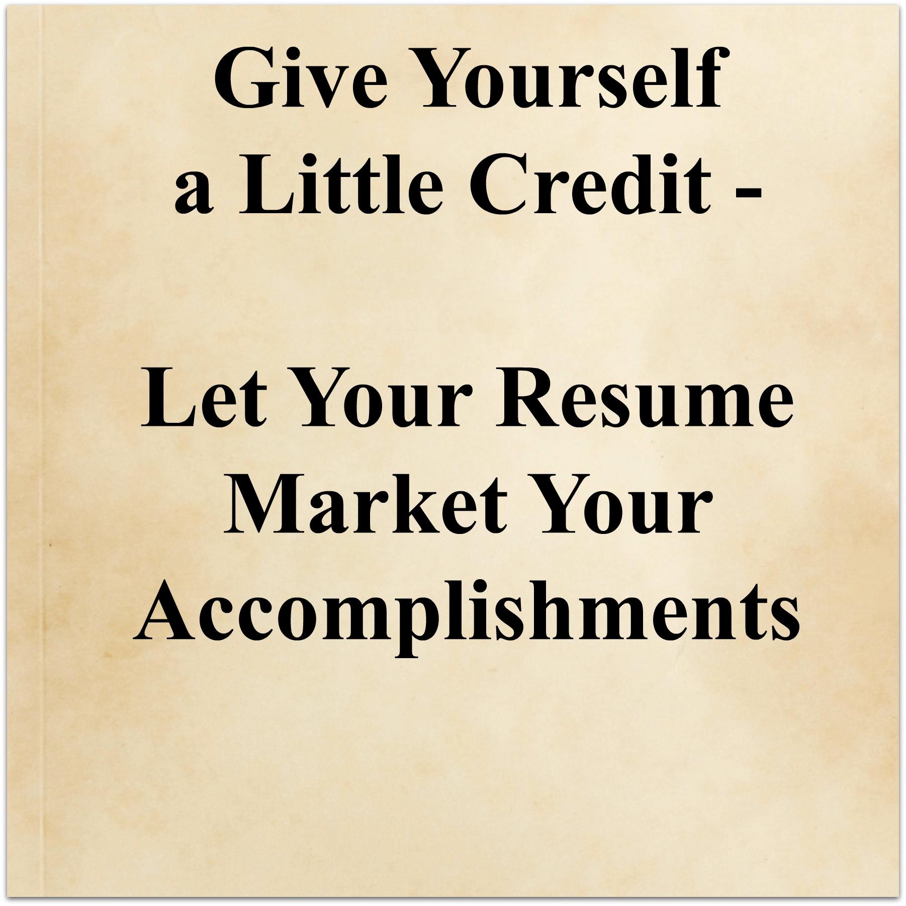 resume marketing