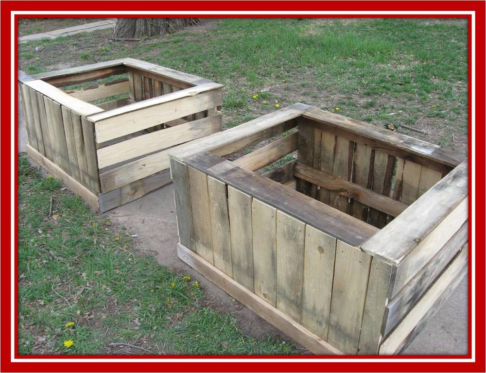 These are two garden boxes before they were painted and delivered.