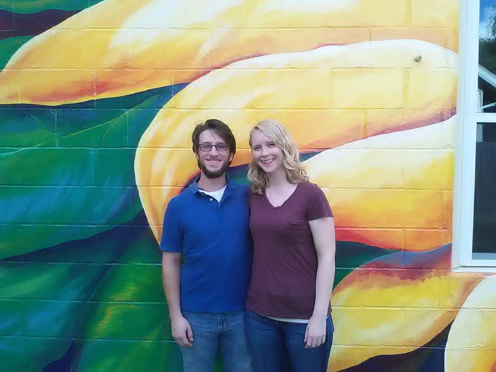 Our new intern Elisabeth and her new husband Brandon--yea!