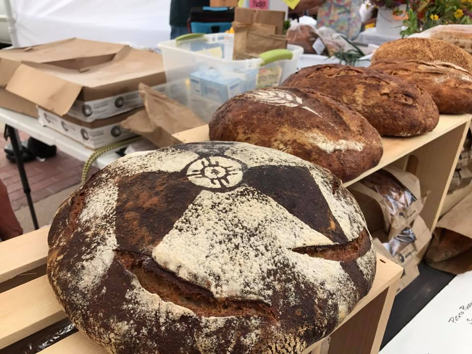 Bread like this is just ONE of the amazing things you could buy at Old Town Farmers' Market!