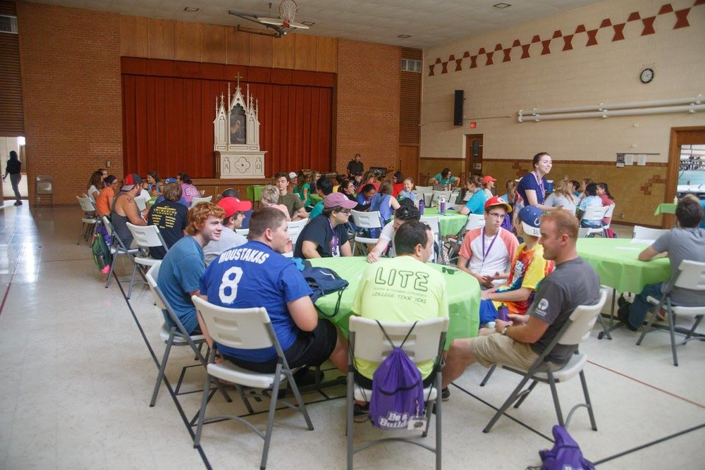 Here we are! Gathered all together at Immanuel Lutheran Church to get started.