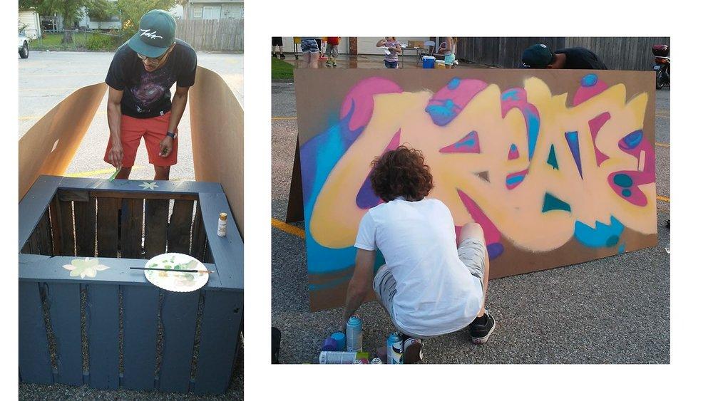 Juanta and his co-muralist