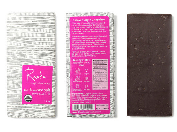 Raaka Chocolate Sea Salt - The argument for going overboard on Easter candy is a lot more sound when it's dark chocolate like Raaka's. Each bar is sourced from small farms that value community building and environmental integrity.