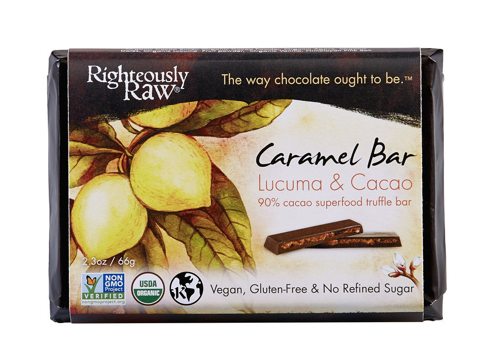 Righteously Raw Caramel Cocoa  - It may not be easy to make sustainably-produced chocolate bars, but these folks have figured it out. Their chocolate is responsibly-sourced with all organic, biodynamically-grown ingredients.