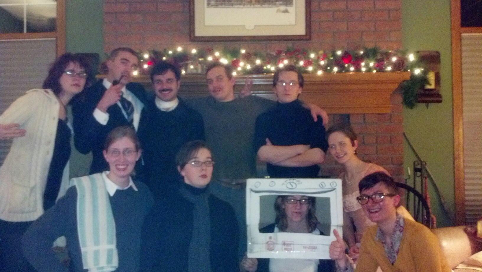 Authors (left to right, back to front) Zelda Fitzgerald, J.R.R. Tolkien, Edgar Allan Poe, John Steinbeck, Carl Sagan, Douglas Adams, Ayn Rand, Sylvia Plath, Margaret Mitchell