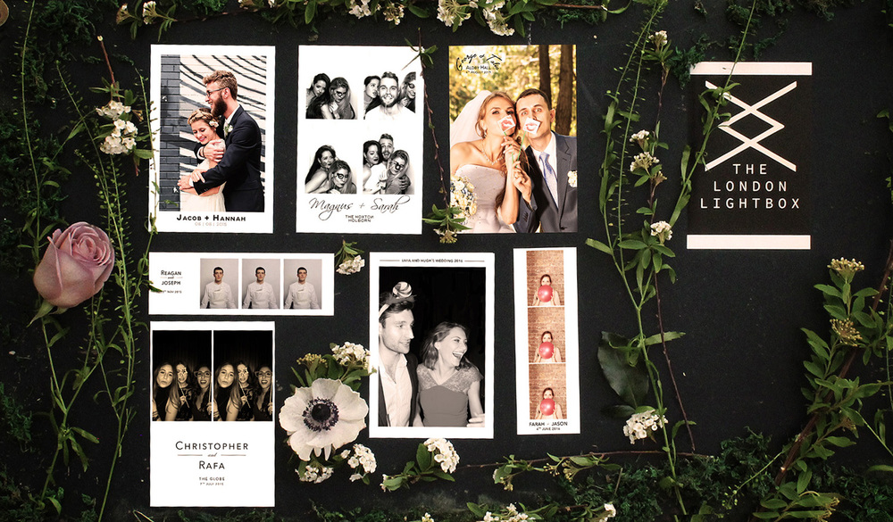 The London Lightbox Wedding Photobooth Layouts for Photo Booths