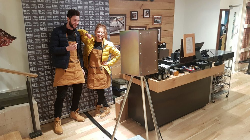 The London lightbox Photo Booth Timberland Dublin