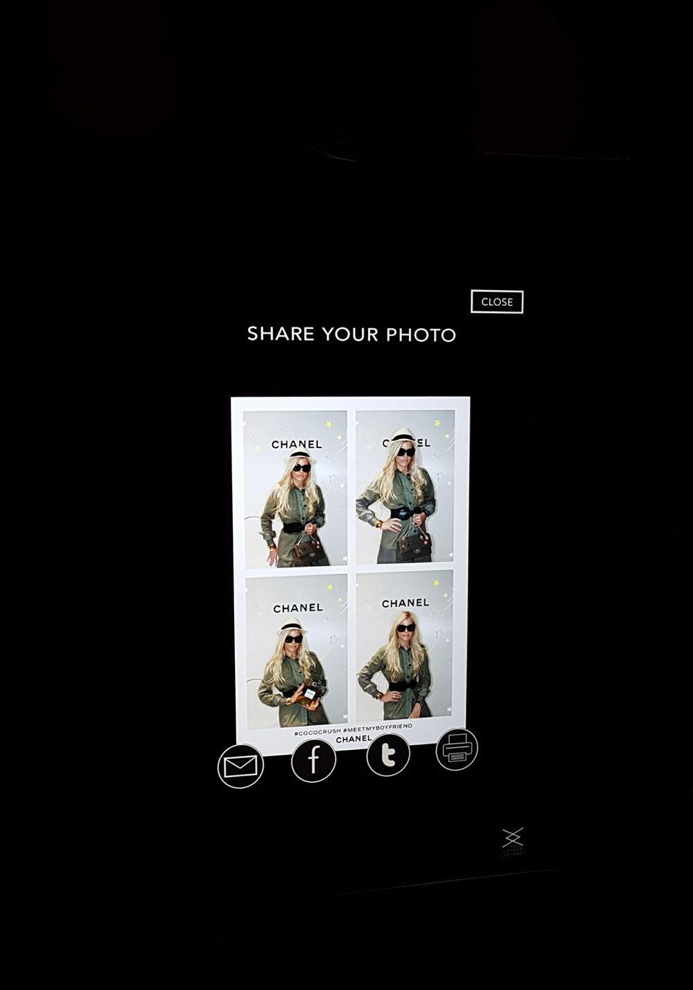 Chanel The London Lightbox Photo Booth New Bond Street therealfashionblogger