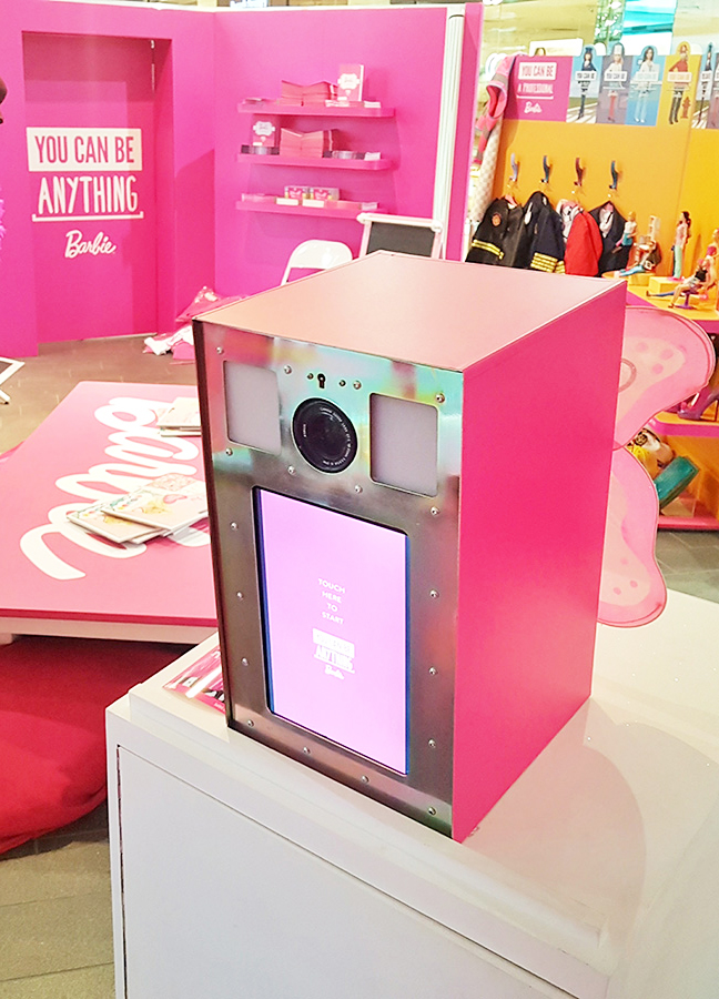 The London Lightbox Barbie Photo Booth Westfield Stratford Hot Pickle