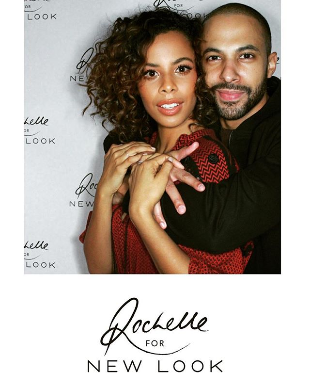 New Look's #rochellefornewlook launch party. @rochellehumes celebrating with bae @marvinhumes! Click the link in our bio to find out more.