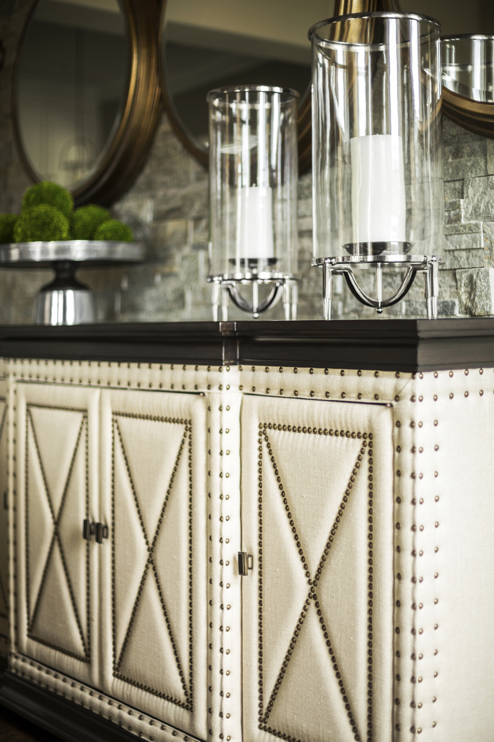 Upholstery Buffet Console Design for The Interior Partners, Atlanta, GA