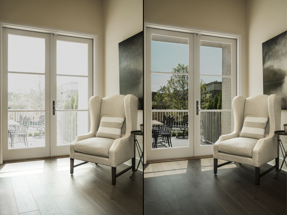 Window Film Before and After for Eastman Chemical